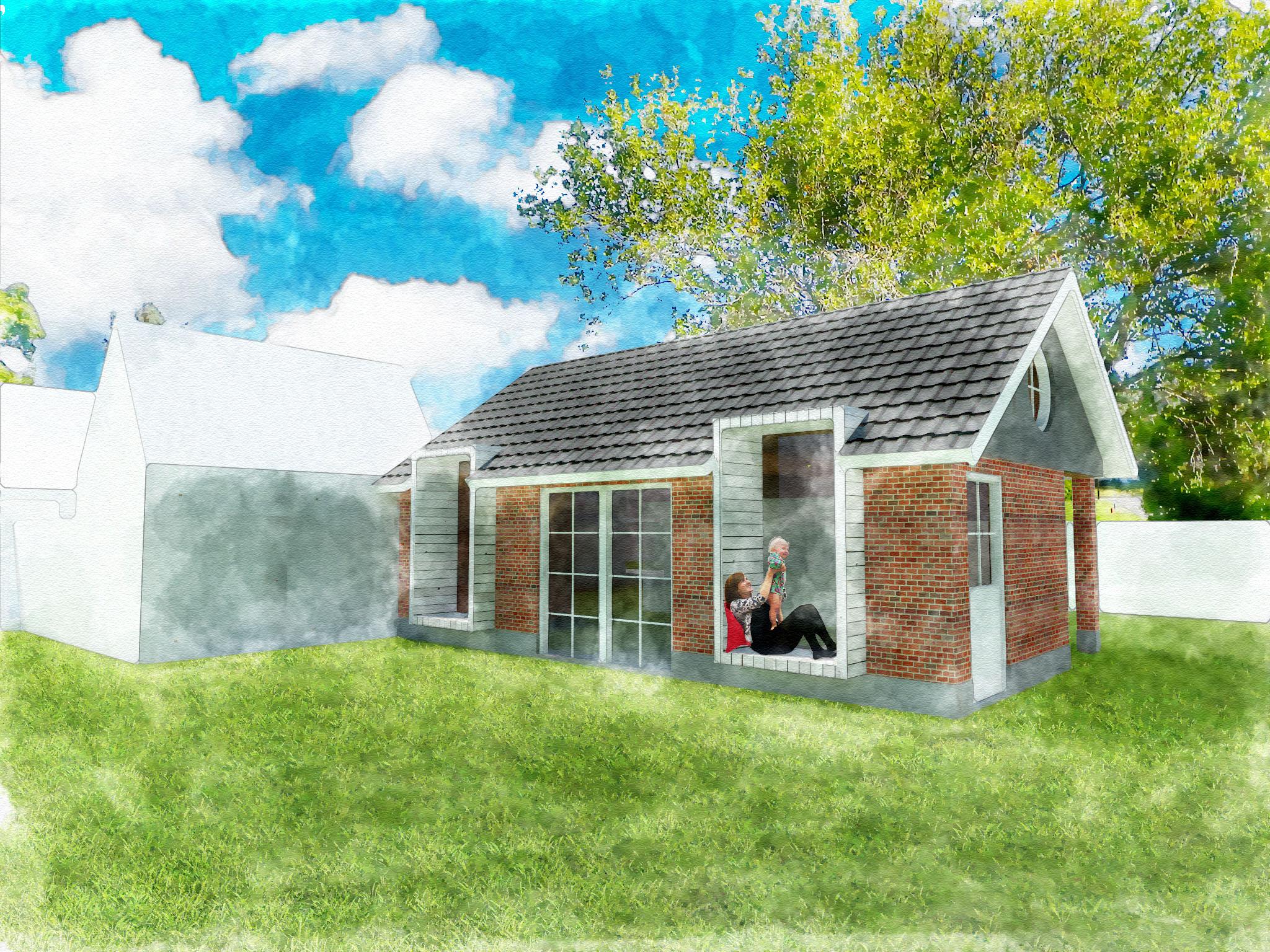 Afbeelding A, tuinzijde ontwerp
