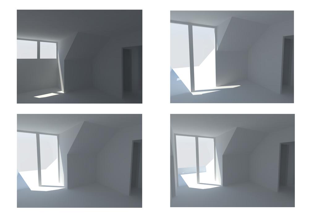 Concepten invulling zolder gezien vanuit grote slaapkamer