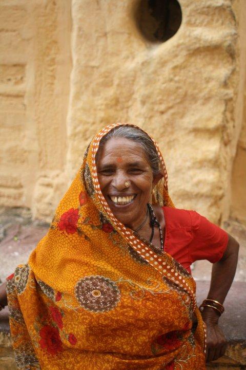 Indian woman with sari