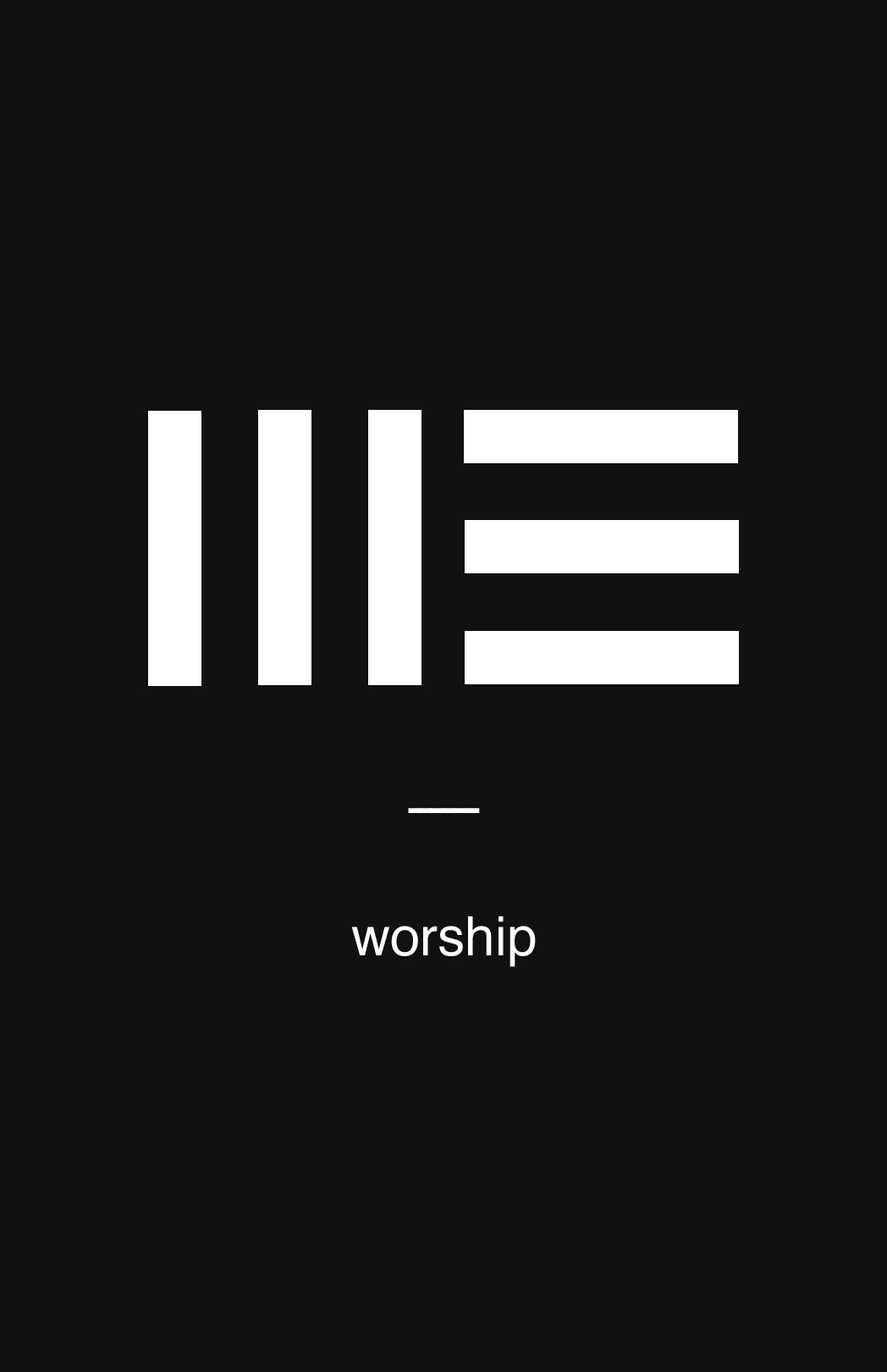 The concept for this design came from my worship pastor Tim as he had the idea of making a brand for a worship series that could look like a me or a we before the word worship. It puts into perspective the idea of what worship can be in our lives.