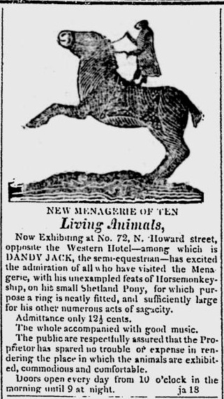 American & Commercial Daily Advertiser , Feb 1, 1825. Baltimore, Maryland. Google News:http://news.google.com/newspapers?id=KDFBAAAAIBAJ&sjid=fLcMAAAAIBAJ&pg=3687%2C838052