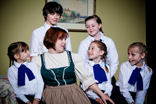 Lexi Gwynn (front row, second from right) as Marta in  The Sound of Music  (photo: Chorus Photography )