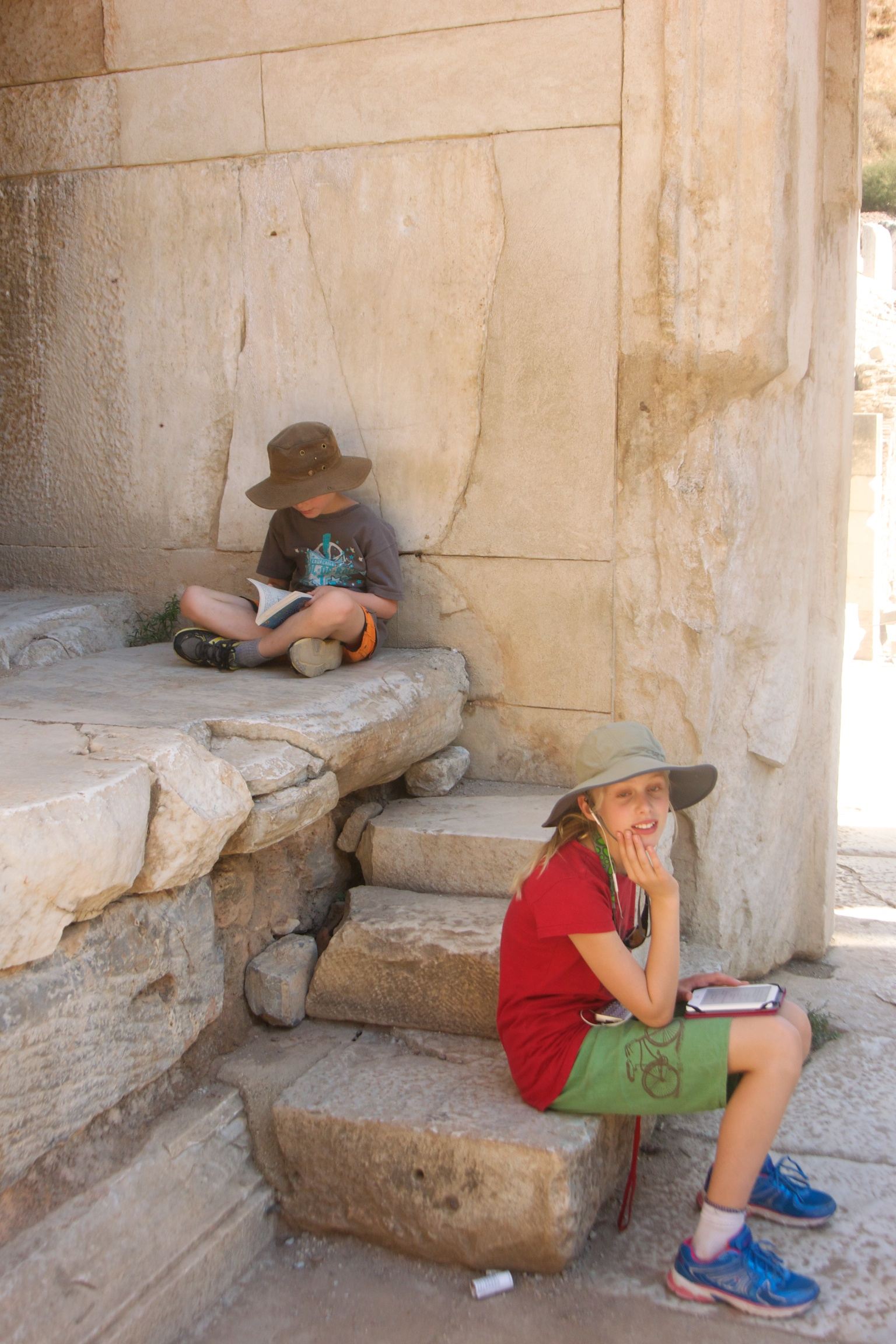 Reading in the Library of Celsus