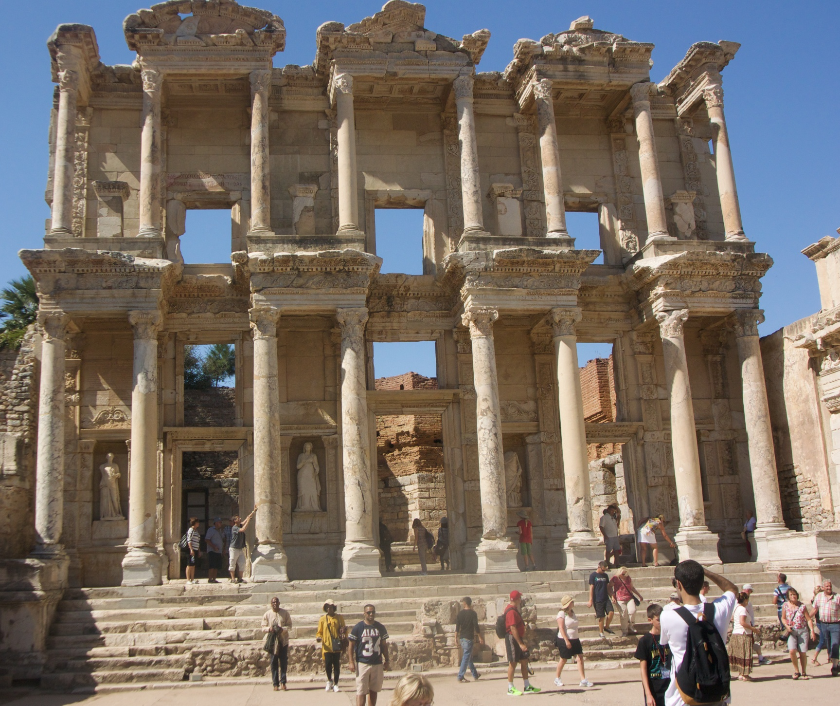 The facade of the Library of Celsus