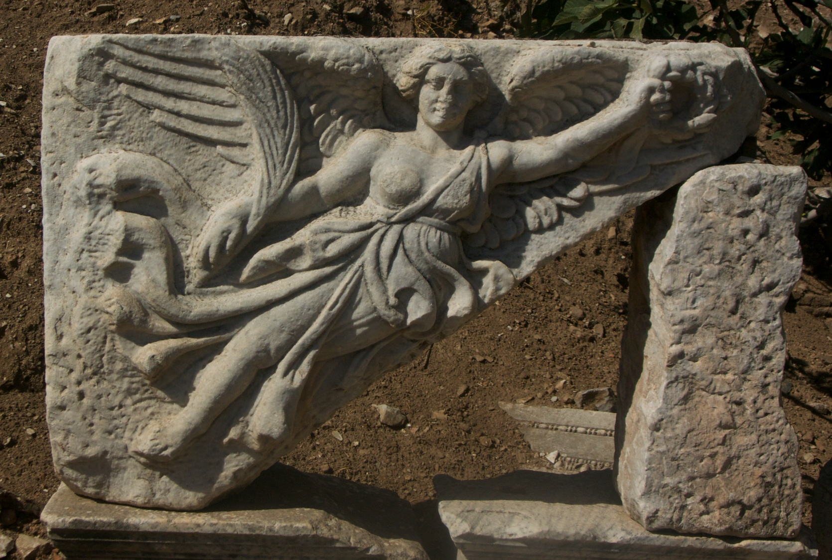 The Goddess Nike -- look for the swoosh!