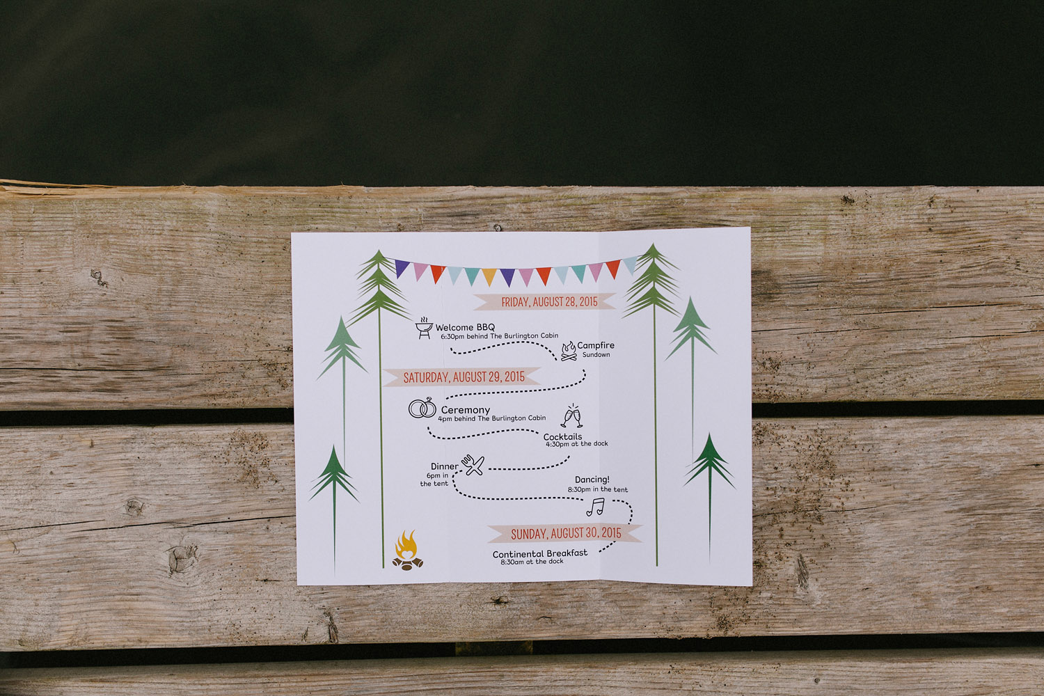 Invitation for a wedding at Delmonte in the Pines