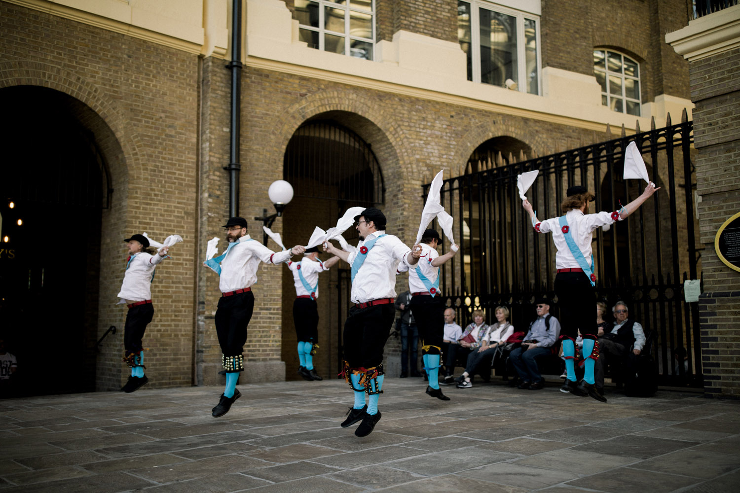 Traditional dance on the streets of London