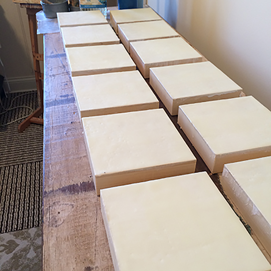 Panels primed and ready to go!