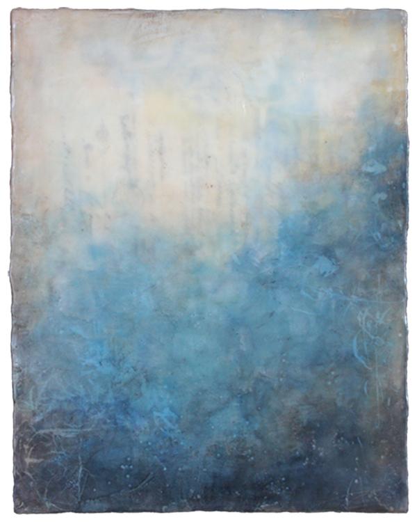 Kari Hall,  Underwater , Encaustic, 14x11 inches
