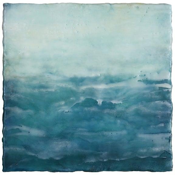 The Calm Beyond,  encaustic, 8 x 8 inches, 2015