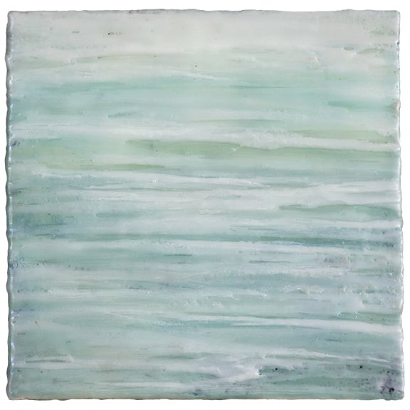 Wave Lines,  encaustic, 8 x 8 inches, 2015