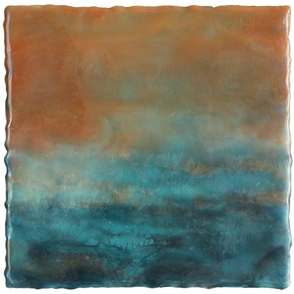 Warm Enough,  encaustic, 8 x 8 inches, 2015