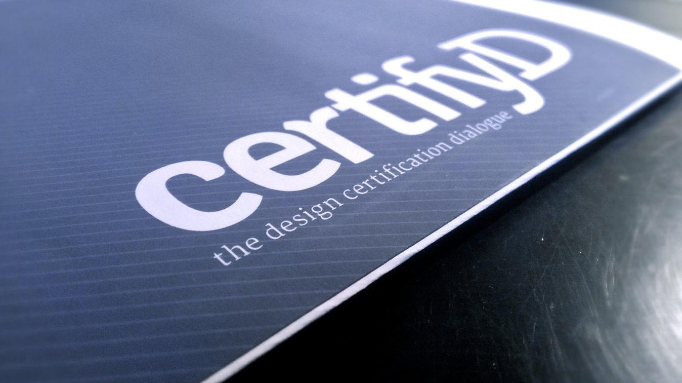 certifyD booklet cover design