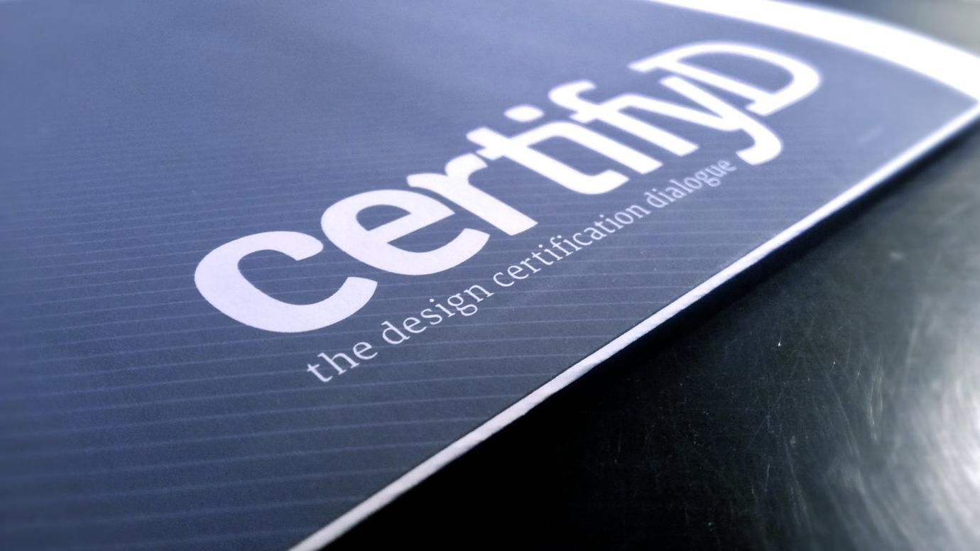 certifyD booklet cover design