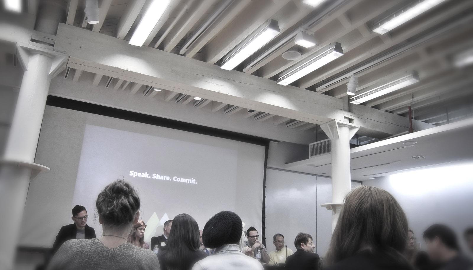 certifyD live event photo. Design certification dialogue. Pratt Institute, November 29th, 2012.