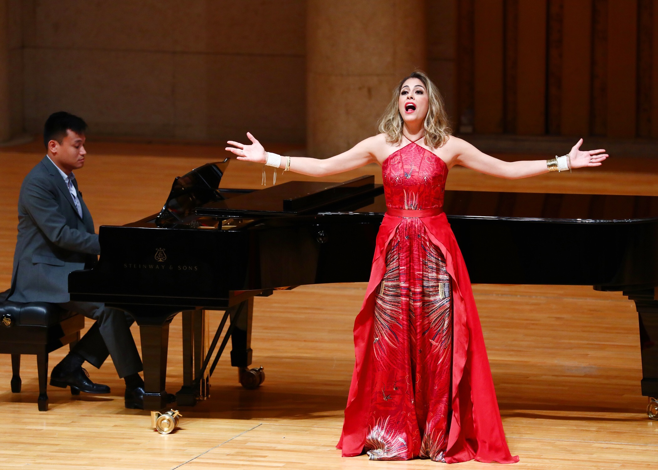 performing at Forbidden City Concert Hall in Beijing, China