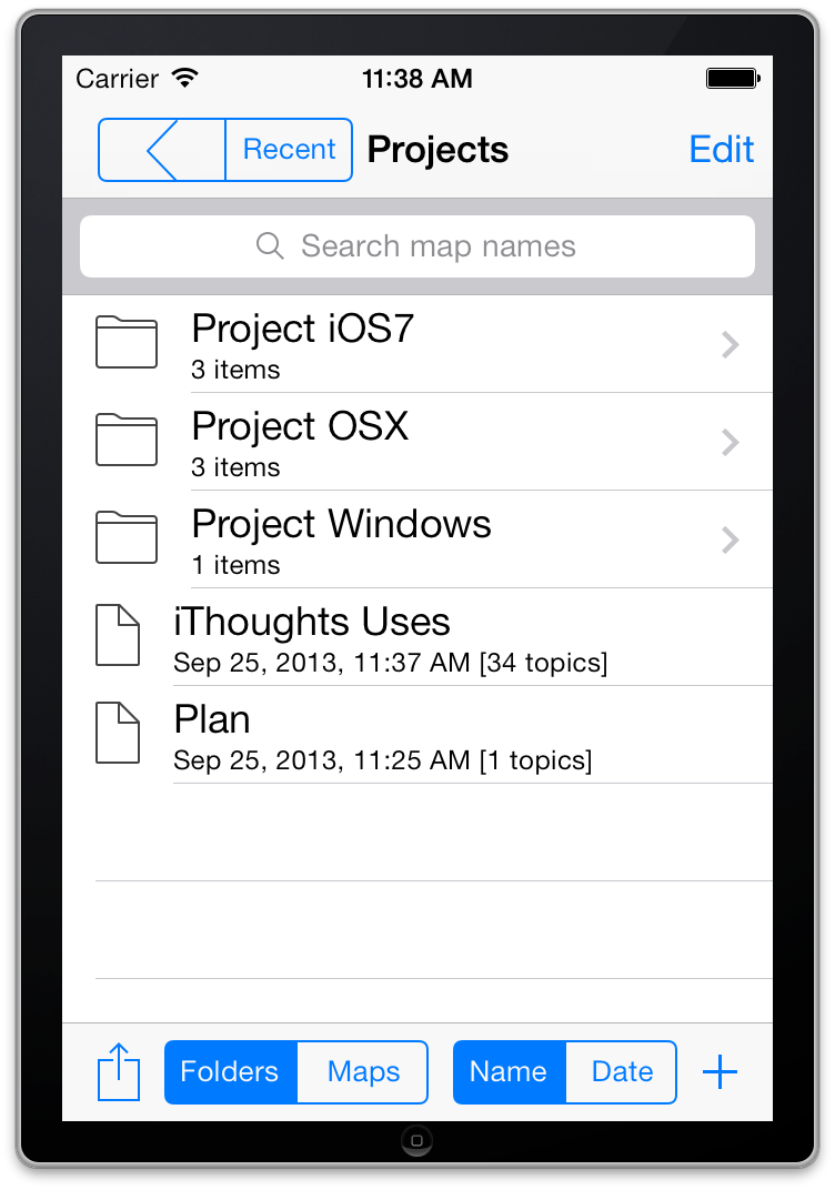 iPhone Map Browser