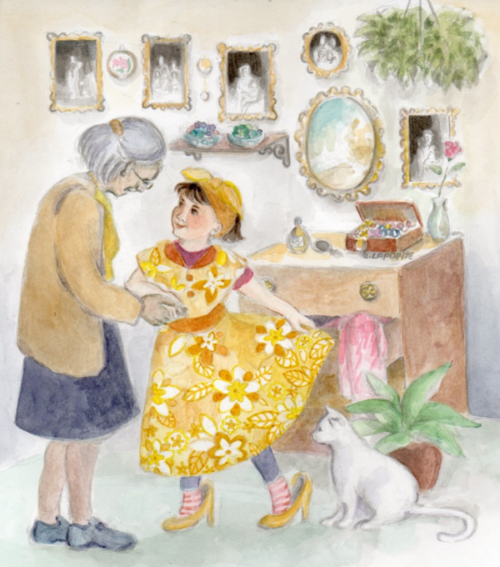 'Retro', A watercolor illustration by Ella Lapointe