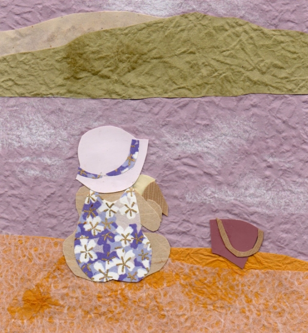 'Ice cream on the beach', a collage by Ella Lapointe