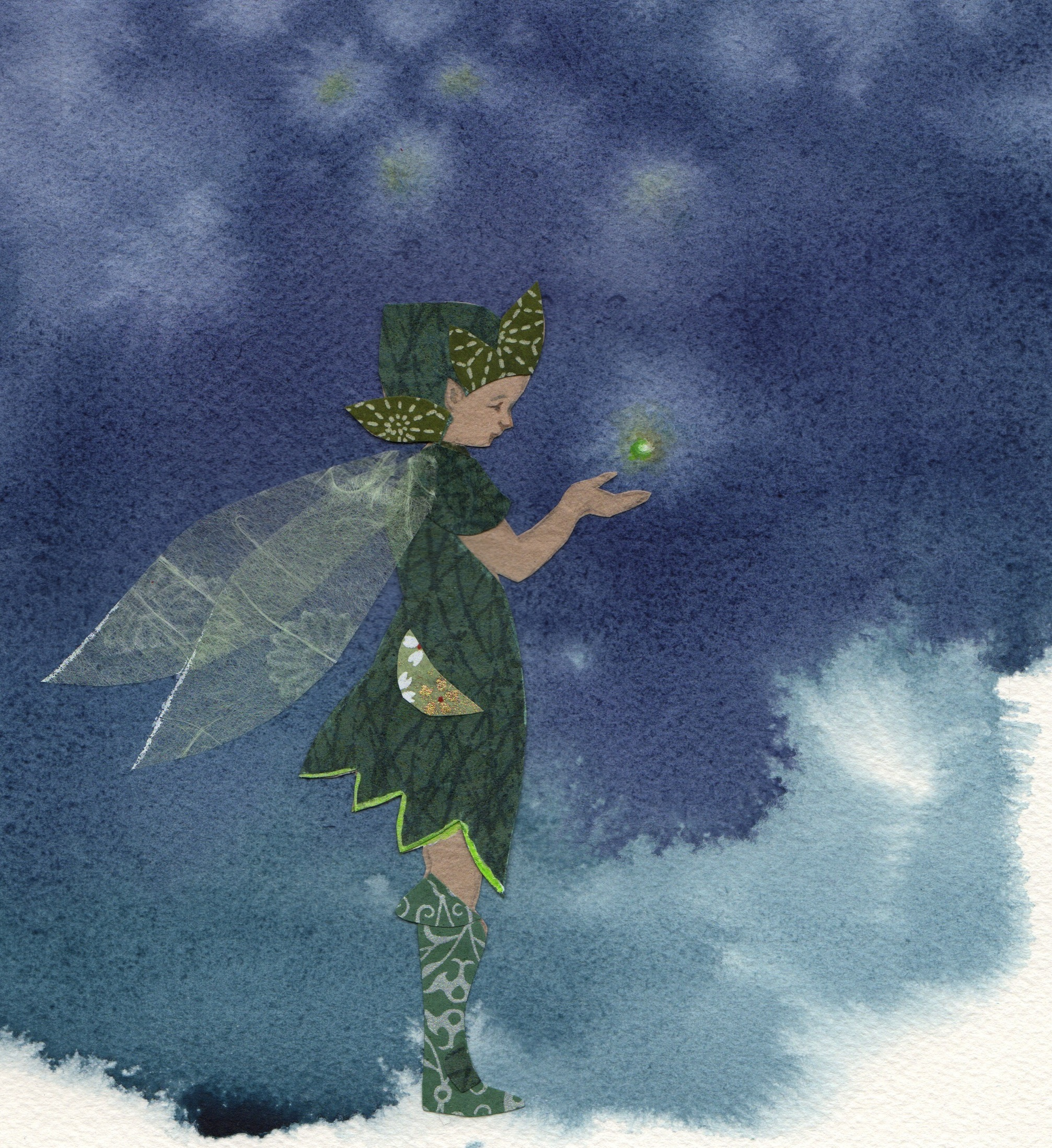'Where do fireflies come from?' an illustration by Ella Lapointe