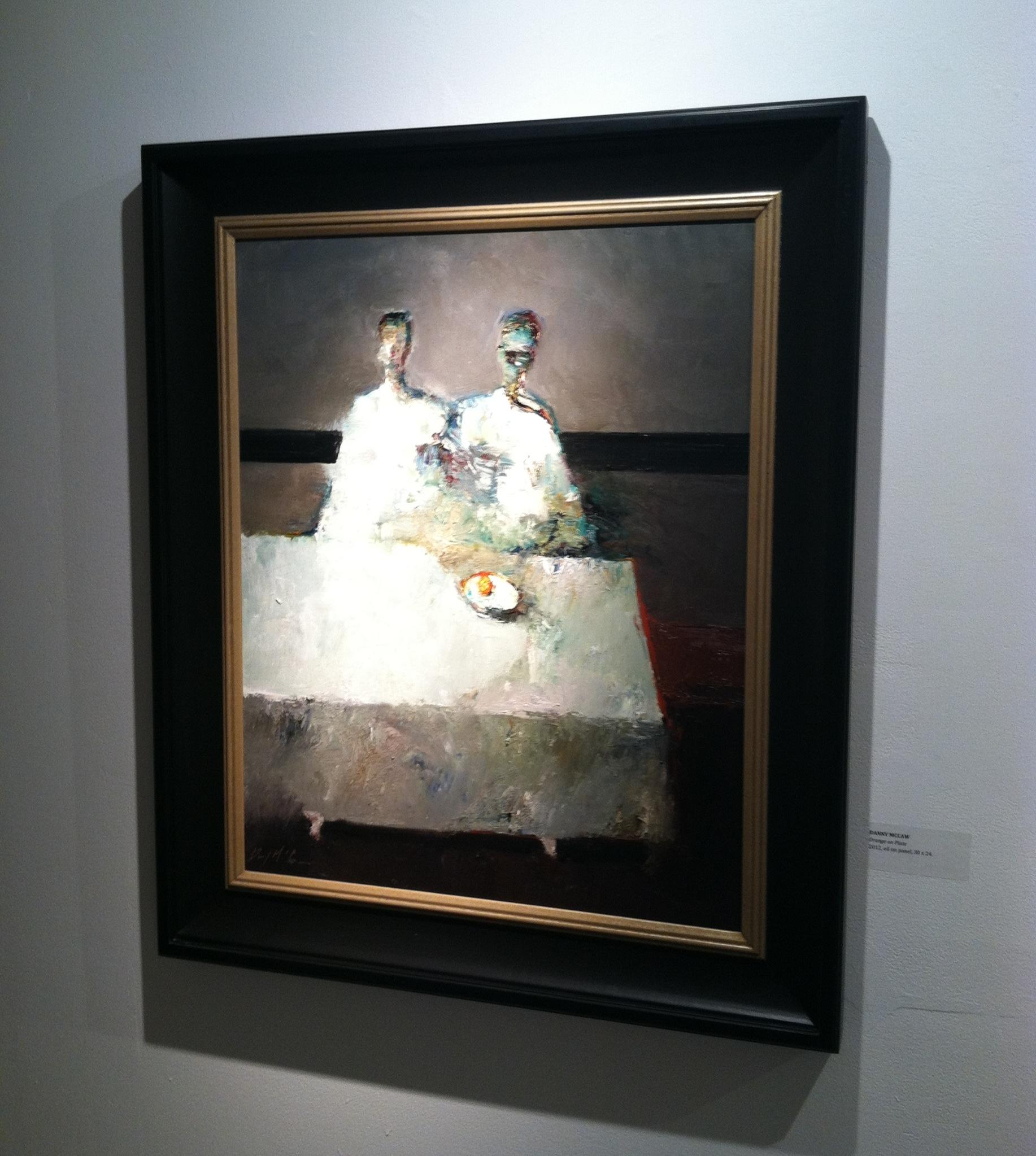 'Orange on Plate', 30 x 24, Oil on Panel, 2012.