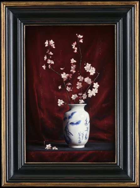 Justin Hess, 'Chinese Vase with Almond Blossoms', 24 x 16, Oil on Linen.