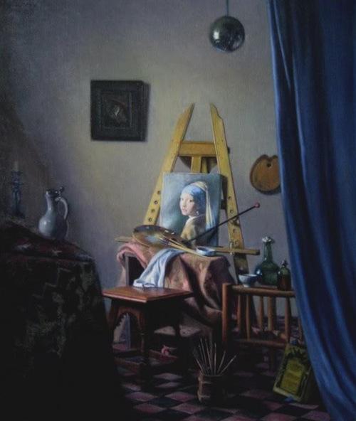 David H. Lowrey, 'Vermeer's Studio c. 1667', Oil on Canvas.