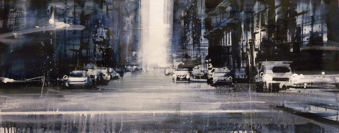 Daniele Cestari, 'The City', 16 x 34, Oil on Linen, 2013.