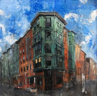 Gregory Prestegord, 'Prince & Salem', 37 x 37, Oil on Panel, 2013.
