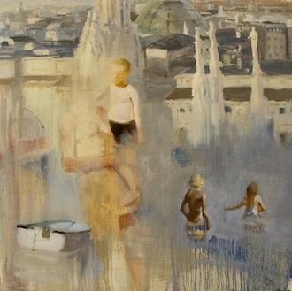 Joshua Flint, 'Perfect Temperature', 18 x 18, Oil on Panel, 2013.