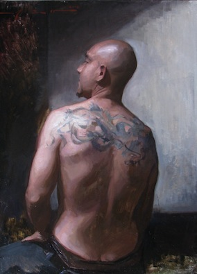 Leo Mancini-Hresko, 'Portrait of Pablo', 38 x 28, Oil on Linen.