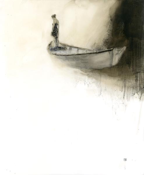 'Even Keel #2', 17 x 14, Oil on Mylar, SOLD