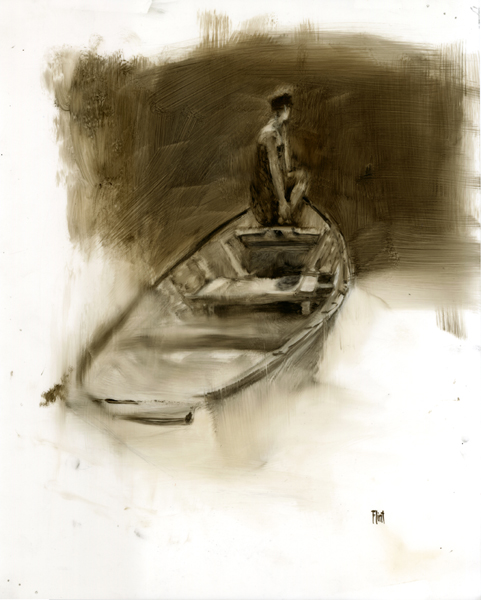 'Even Keel #5', 17 x 14, Oil on Mylar, SOLD