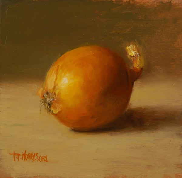 'Yellow Onion', 5 x 5, Oil on Panel, SOLD