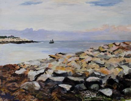 José Santos, 'After the Storm', 14 x 18, Acrylic on Panel