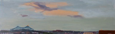 José Santos, 'Tobin', 7 x 23, Oil on Panel