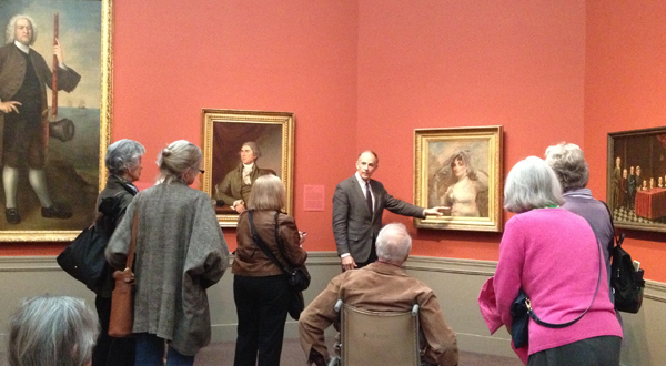 Jim talking about a piece by Gilbert Stuart -- part of the American Art Collection