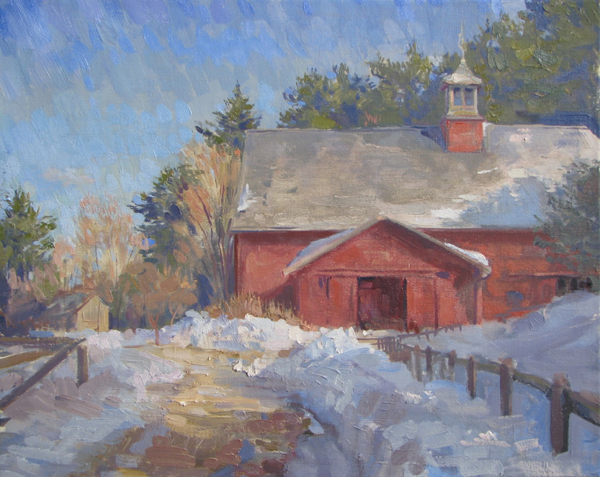 Leo Mancini-Hresko, 'Drumlin Farm', 16 x 20, Oil on Linen, SOLD