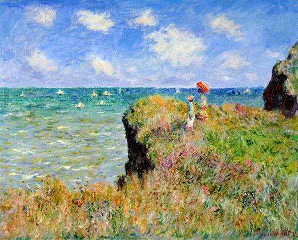 Claude Monet, 'Clifftop Walk at Pourville', 26 x 32.5, Oil on Canvas, c. 1882, Art Institute of Chicago