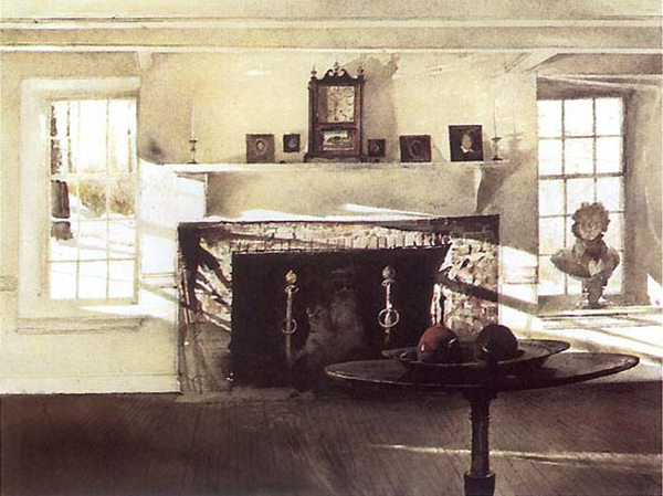 Andrew Wyeth, 'Big Room', Watercolor on Paper, c. 1988