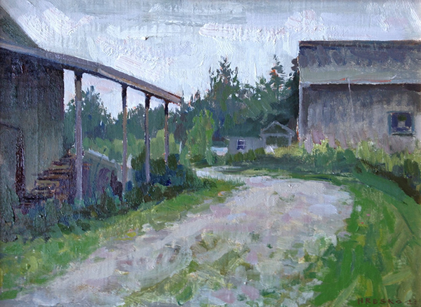 'Yellow Birch Farm', 12 x 16, Oil on Linen on Panel, 2013.