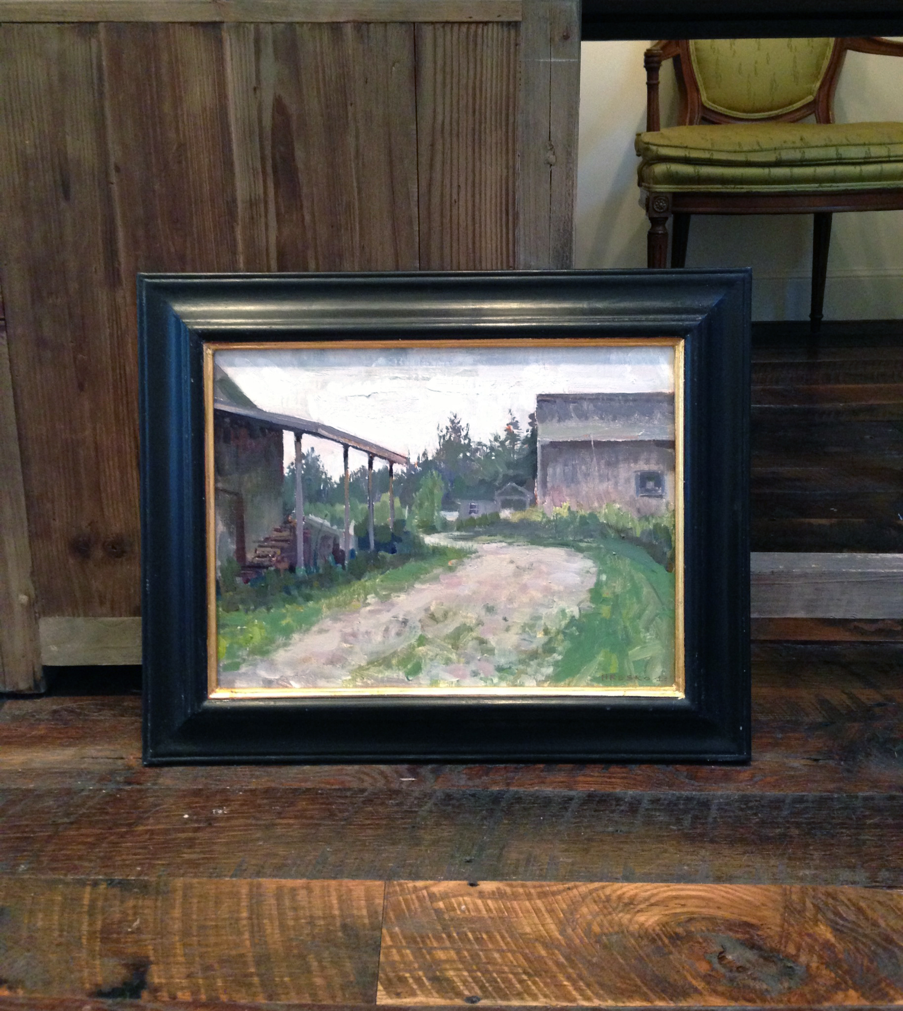 'Yellow Birch Farm' Framed