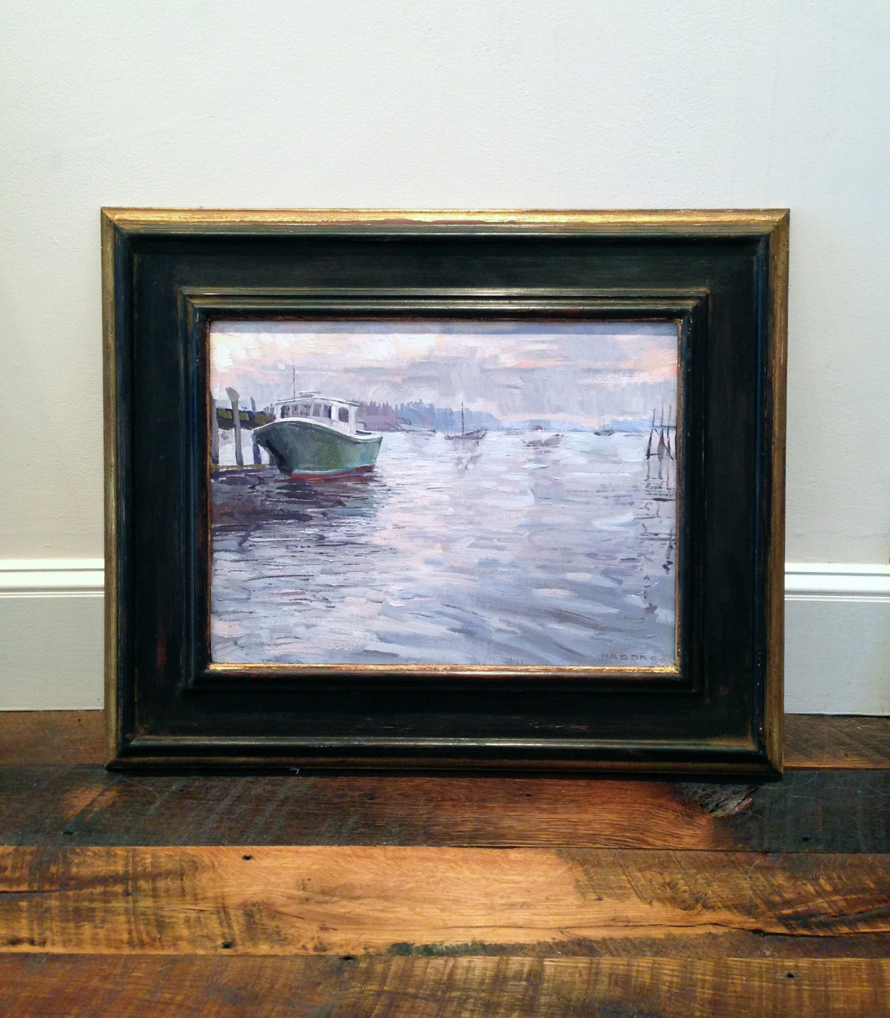 'Lobster Boats' Framed