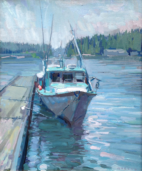 'Marjorie, Stonington', 18 x 15, Oil on Linen, 2013.