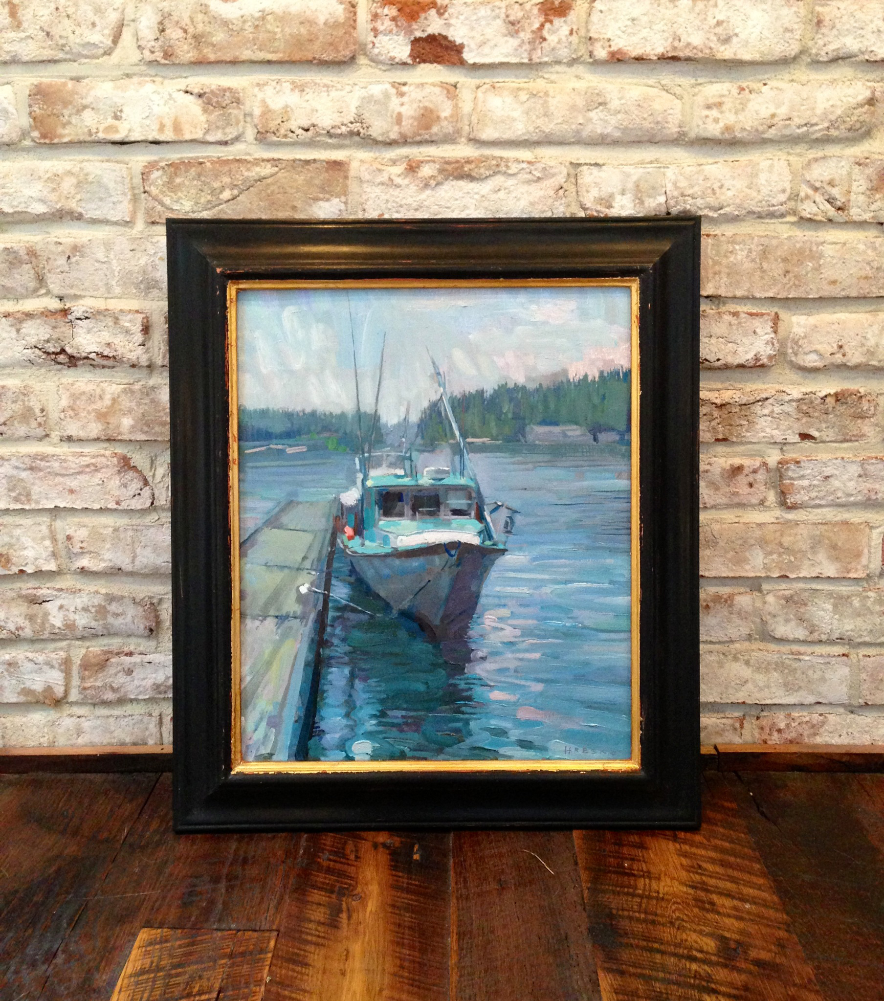 'Marjorie, Stonington' Framed