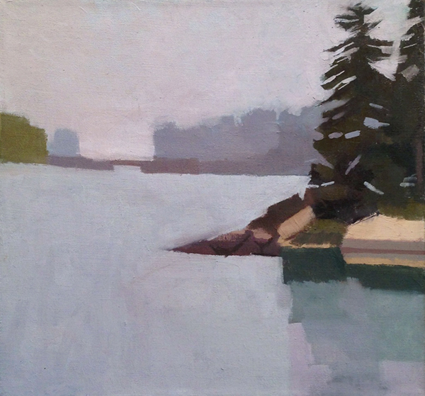 'Mickey's Cove', 16 x 17, Oil on Linen, 2013.