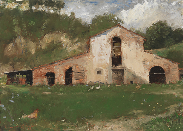 Damon Lehrer, 'Barn', 10 x 14, Oil on Panel, $1,250.