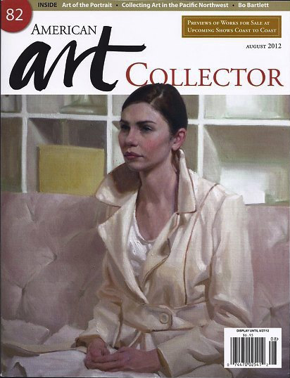 Mary Sauer's paining 'Anna' on the cover of American Art Collector Magazine's August 2012 Issue.