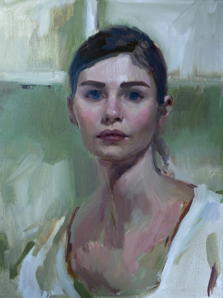 Mary Sauer, 'Anna II', 20 x 16, Oil on Canvas, 2012