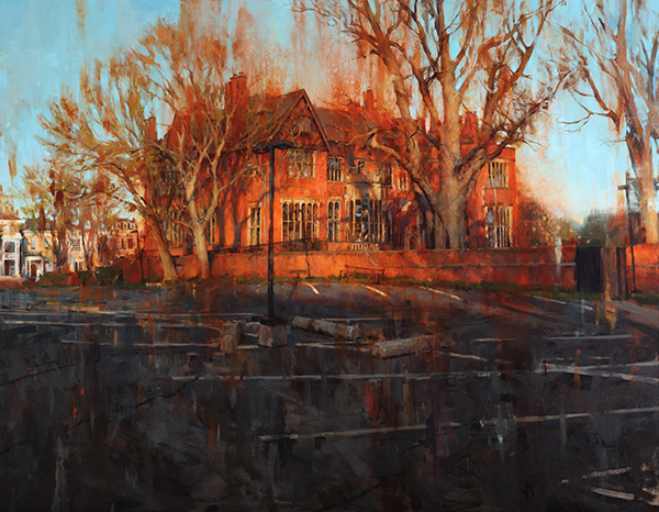 Daniel Robbins, 'The Mansion', 35 x 45, Oil on Canvas on Panel